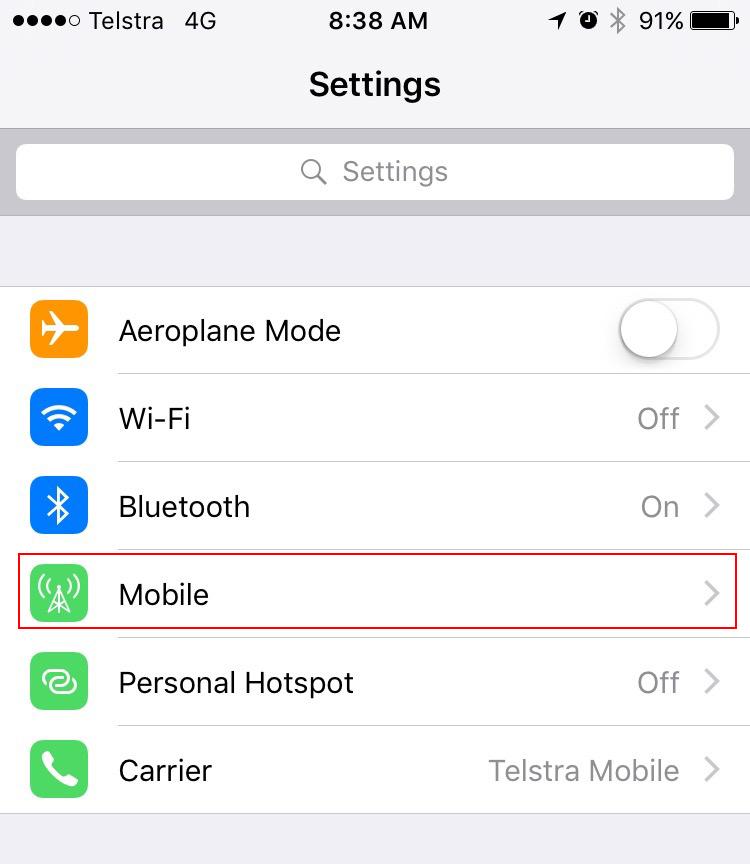 iPhone Settings 2