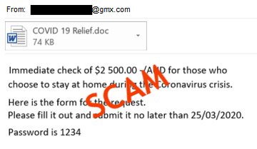 COVID-19 Email Scam