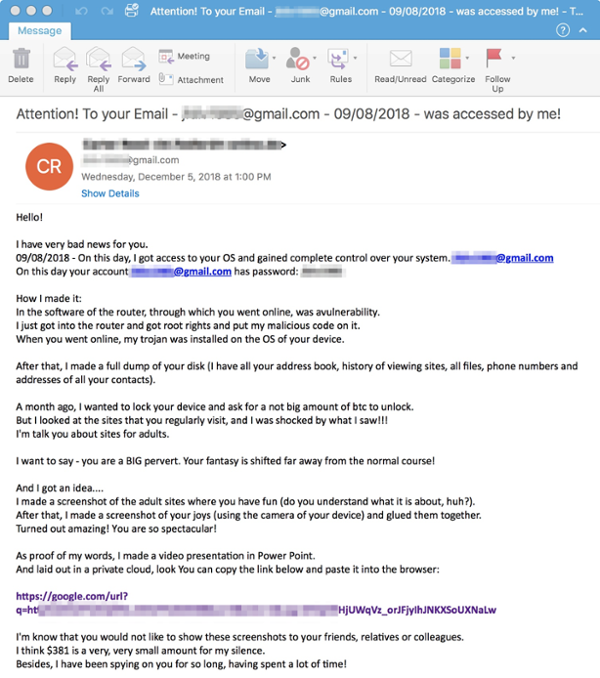 sextortion ransomware email