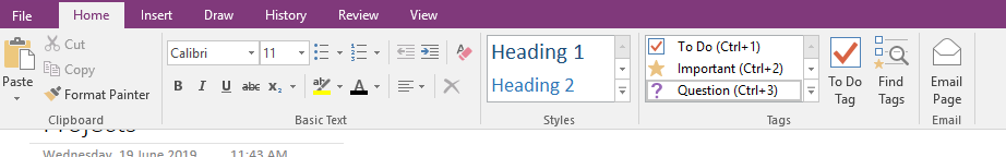 OneNote - Tags